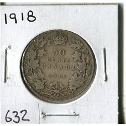 FIFTY CENT COIN ( CANADA) * 1918*
