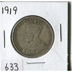 FIFTY CENT COIN ( CANADA) * 1919*