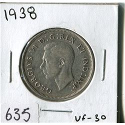 FIFTY CENT COIN ( CANADA) * 1938*