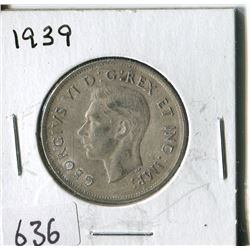 FIFTY CENT COIN ( CANADA) * 1939*