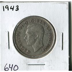 FIFTY CENT COIN ( CANADA) * 1943*