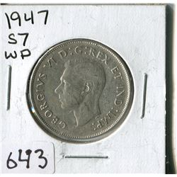 FIFTY CENT COIN ( CANADA) * 1947*