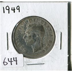 FIFTY CENT COIN ( CANADA) * 1949*