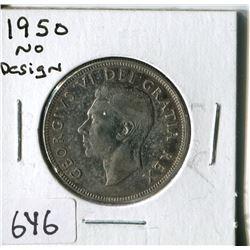 FIFTY CENT COIN ( CANADA) * 1950, NO DESIGN*