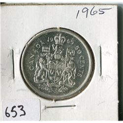 FIFTY CENT COIN ( CANADA) * 1965*