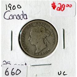 TWENTY FIVE CENT COIN (CANADA)*1900*
