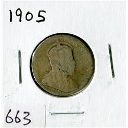 TWENTY FIVE CENT COIN (CANADA)*1905*