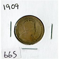 TWENTY FIVE CENT COIN (CANADA)*1909*