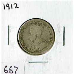TWENTY FIVE CENT COIN (CANADA)*1912*