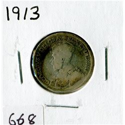 TWENTY FIVE CENT COIN (CANADA)*1913*