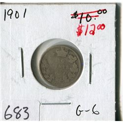 CANADA TEN CENT COIN (1901)
