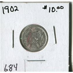 CANADA TEN CENT COIN (1902)