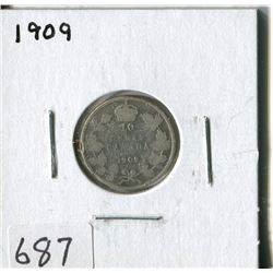 CANADA TEN CENT COIN (1909)
