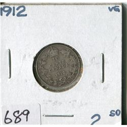 CANADA TEN CENT COIN (1912)