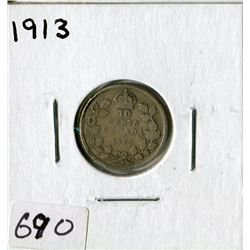CANADA TEN CENT COIN (1913)