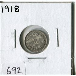CANADA TEN CENT COIN (1918)