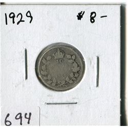 CANADA TEN CENT COIN (1929)