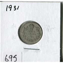 CANADA TEN CENT COIN (1931)
