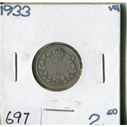 CANADA TEN CENT COIN (1933)