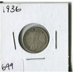CANADA TEN CENT COIN (1936)