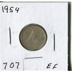 CANADA TEN CENT COIN (1954)