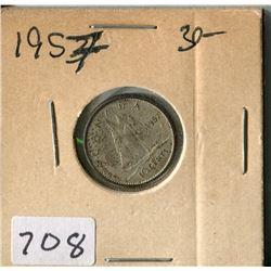 CANADA TEN CENT COIN (1957)