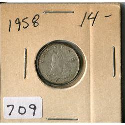 CANADA TEN CENT COIN (1958)