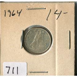 CANADA TEN CENT COIN (1964)