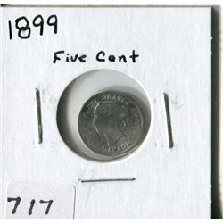 CANADA FIVE CENT COIN (1899)