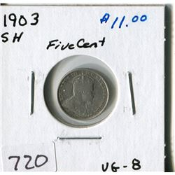 CANADA FIVE CENT COIN (1903SH)