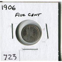 CANADA FIVE CENT COIN (1906)