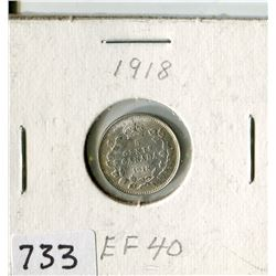 CANADA FIVE CENT COIN (1918)