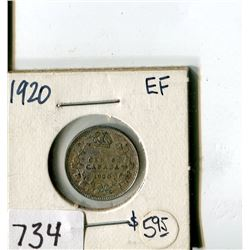 CANADA FIVE CENT COIN (1920)