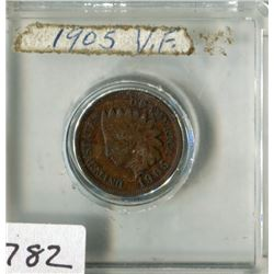 USA INDIAN HEAD PENNY (1905)