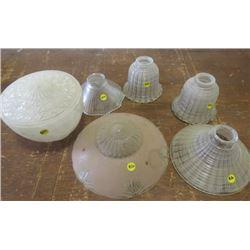 LOT OF ART DECO LAMP SHADES (GLASS)