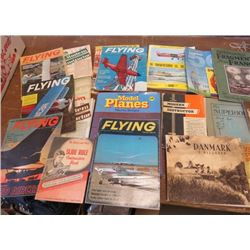 LOT OF MAGAZINES  AND MISC BOOKS (VINTAGE) *HOT ROD, FLYING, ETC)