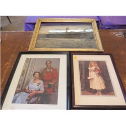 LOT OF 3 VINTAGE PICTURES