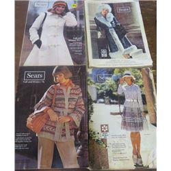 LOT OF SEARS CATALOGS (1974 SPRING & SUMMER, FALL & WINTER) *1976 FALL & WINTER* (1977 FALL & WINTER