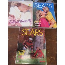 LOT OF SEARS CATALOGS (1990 FALL & WINTER) *1992 SPRING & SUMMER* (1993 FALL & WINTER)
