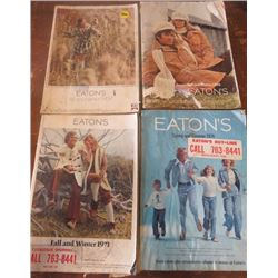 LOT OF EATON'S CATALOGS (1969 FALL & WINTER) *1970 FALL & WINTER* (1971 FALL & WINTER) *1974 SPRING