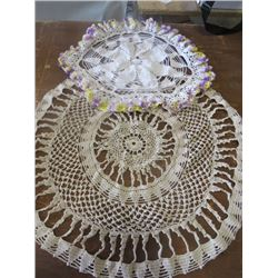 LOT OF 2 DOILIES