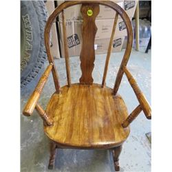 SMALL TODDLER ROCKING CHAIR (WOOD) *VINTAGE*