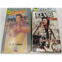 LOT OF 2 ELVIS VHS MOVIES (BLUE HAWAII, ELVIS ON TOUR)
