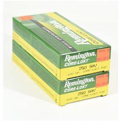 40 Rnds Remington 250 Savage 100grn PSP