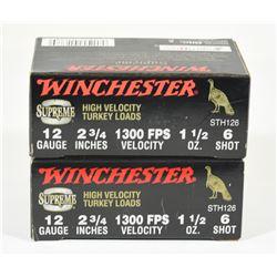 "20 Rnds Winchester 12Ga x 2 3/4"" Turkey Load"