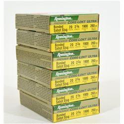 """30 Rnds Remington 20Ga x 2 3/4"""" Sabot Slugs"""