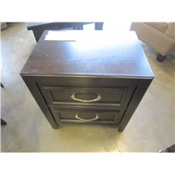 ASHLEY FLOOR MODEL 2 DRAWER DARK FINISH NIGHTSTAND RETAIL $279
