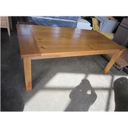 7 x 3-1/2FT SOLID WOOD DINING TABLE AND BENCH