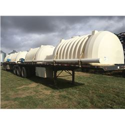 Set of 2005 Lode King Super B flat deck trailers. SN 2DEHBPA2251017487 and 2DEHBFZ3451017486