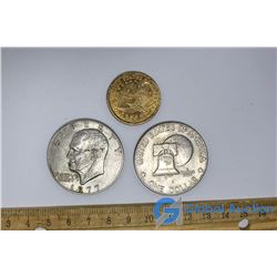 (3) American Dollar Coins
